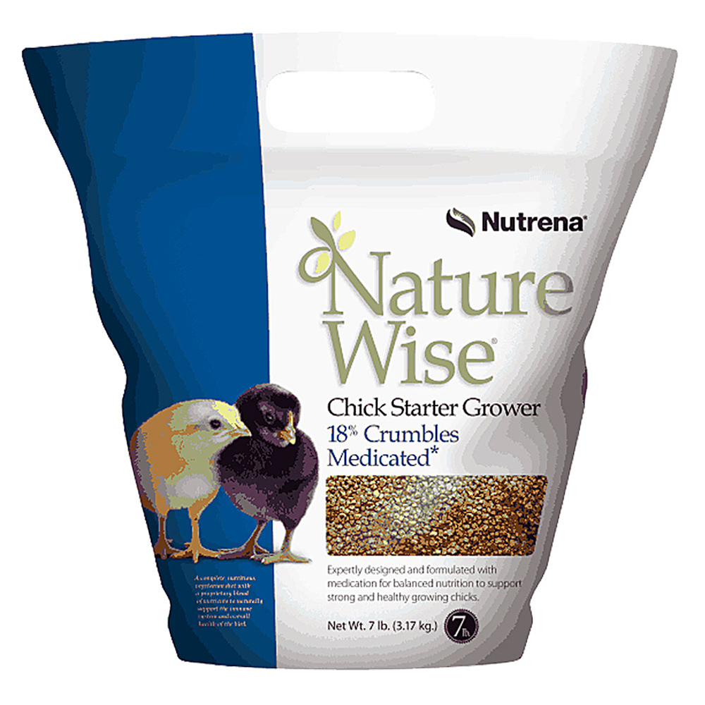 NatureWise Chick Starter Grower Feed Medicated 7-Lbs