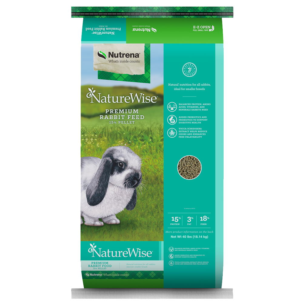 NatureWise  Premium 15% Pelleted Rabbit Feed 40-Lbs