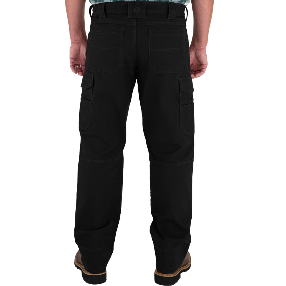 Mens 30x34 FullFlexx HD Hammerdrill Cargo Canvas Pant Black