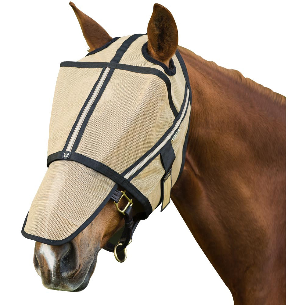 Guardsman Medium Fly Mask (No Ears) Noble Gold