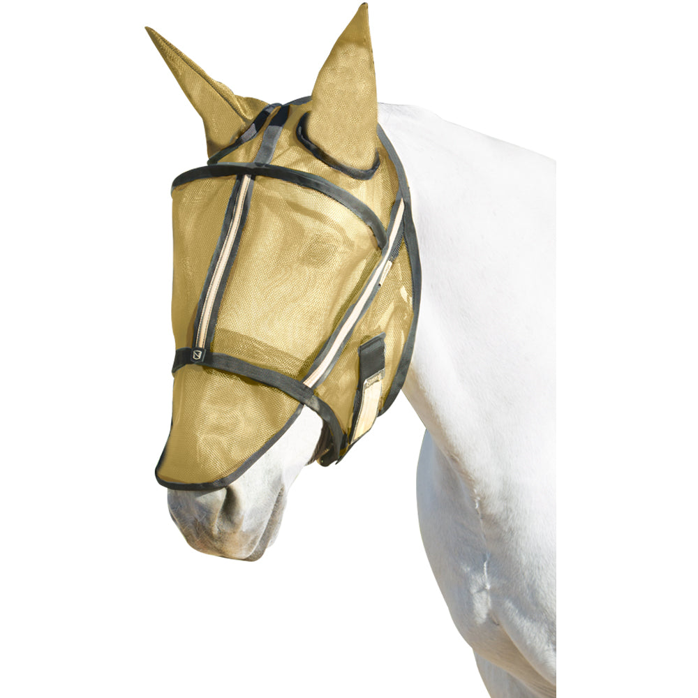 Guardsman Medium Fly Mask With Ears Noble Gold