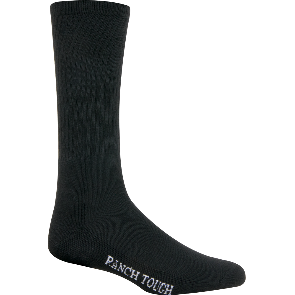 Noble Outfitter Large Ranch Tough Crew Sock Black