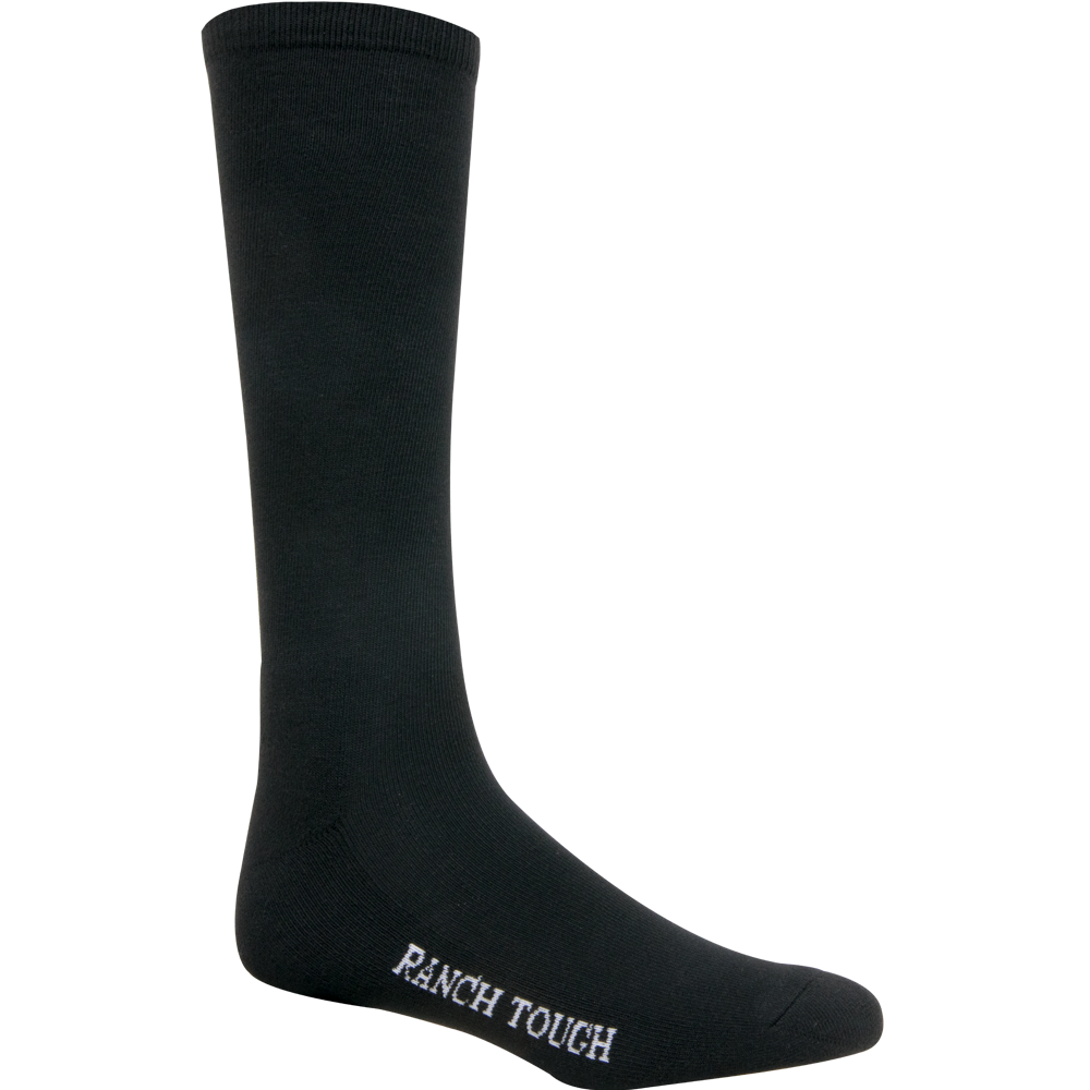 Noble Outfitter Medium Ranch Tough- Over the Calf Sock Black