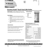 Country Feeds Duck Feed 50-Lbs