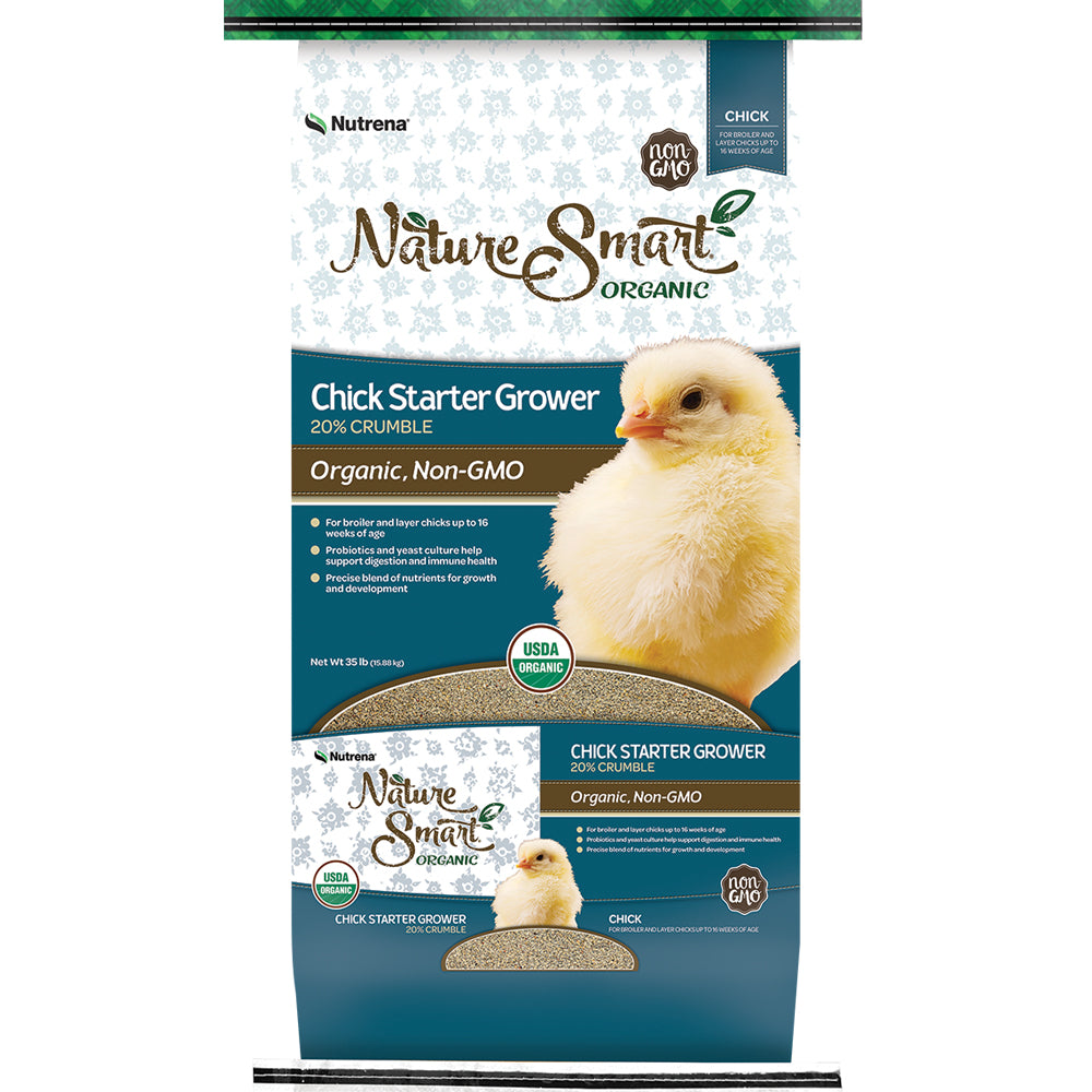 Nature Smart Organic Chick Starter Grower Crumble Feed 35-Lbs