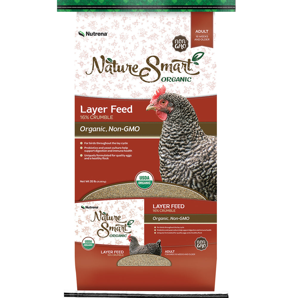 Nature Smart Organic Layer Crumble Chicken Feed 35-Lbs