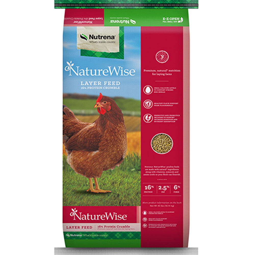 NatureWise Layer Crumble Chicken Feed 40-Lbs