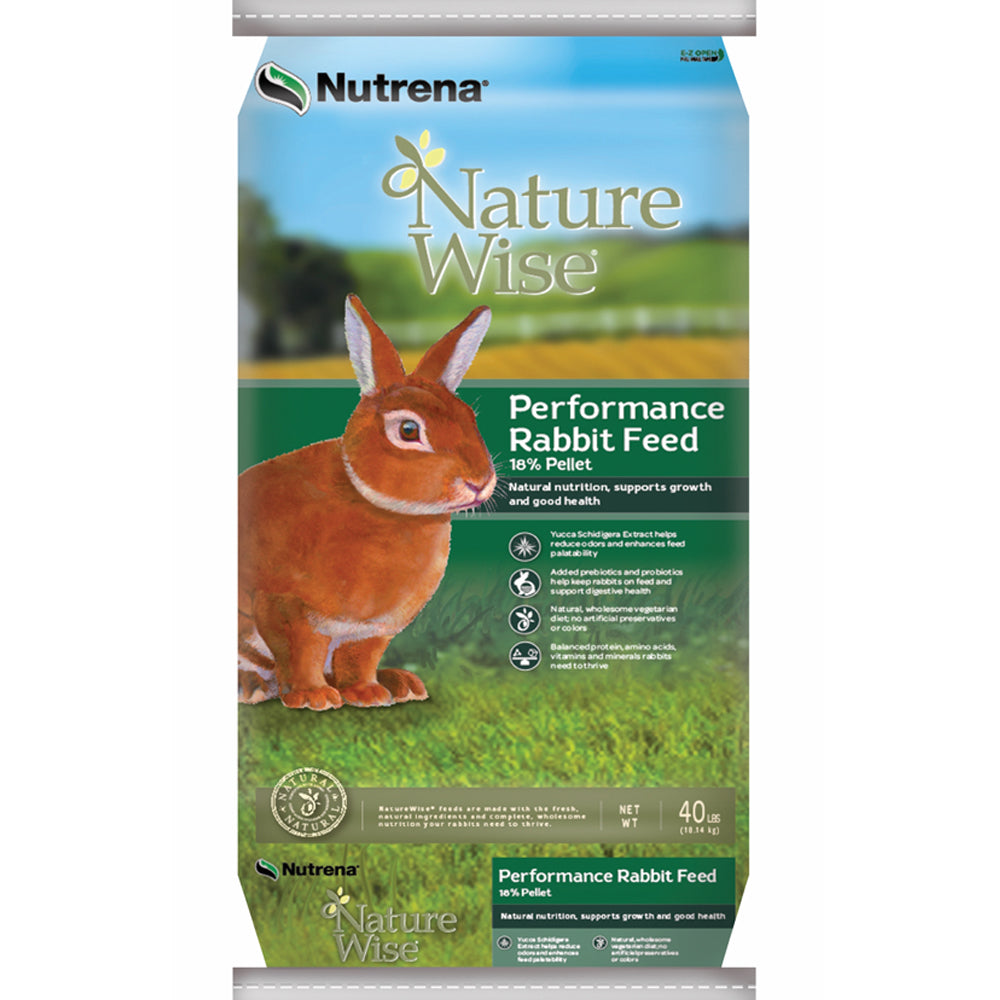 NatureWise Performance 18% Pelleted Rabbit Feed 40-Lbs