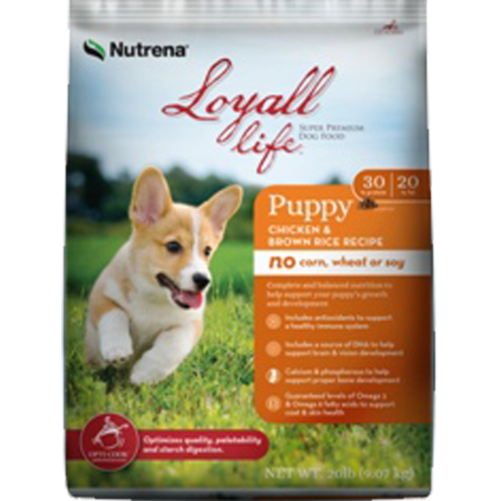 Nutrena Loyall Life Chicken And Rice Puppy Food 20 lb