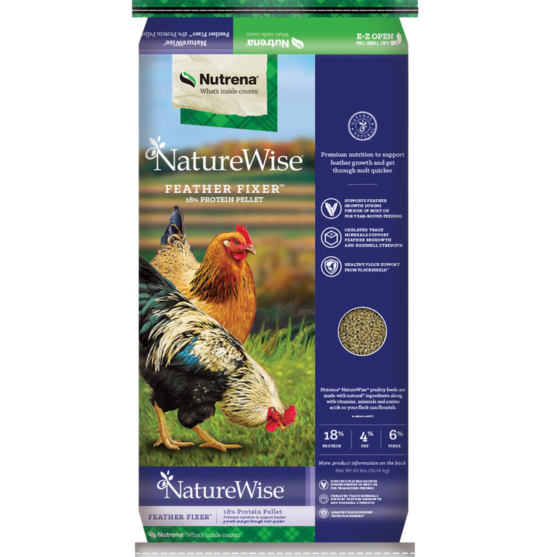 NatureWise Feather Fixer Pelleted Chicken Feed 40-Lbs