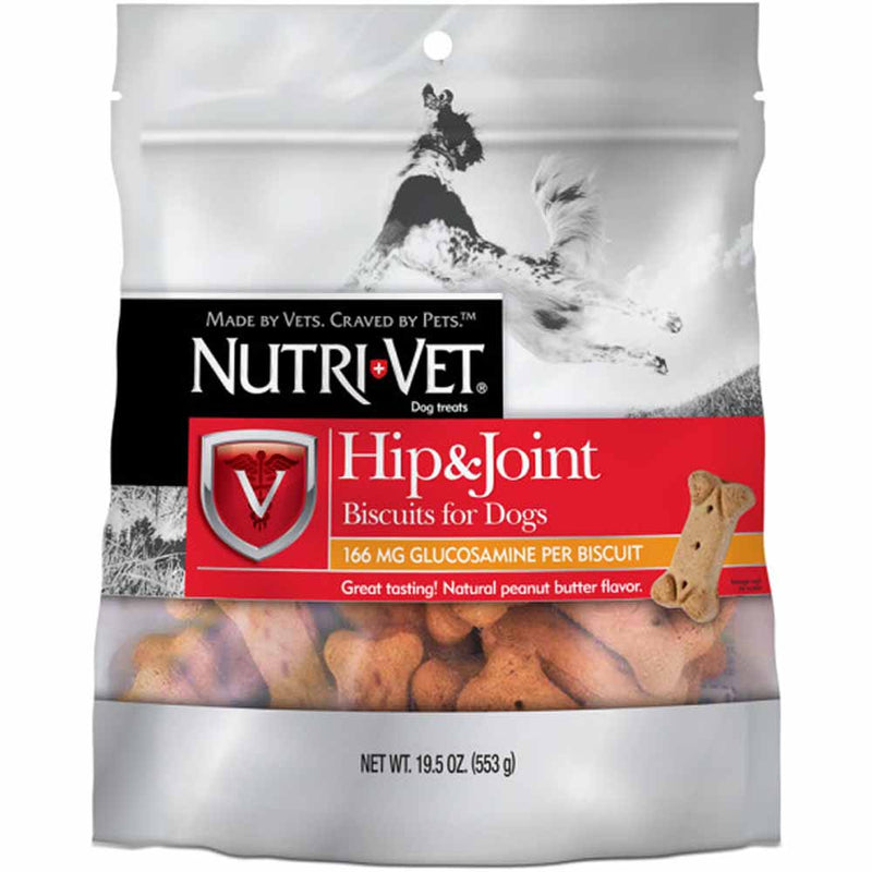 Nutri-Vet Hip And Joint Dog Biscuits Peanut Butter 19-1/2 Oz