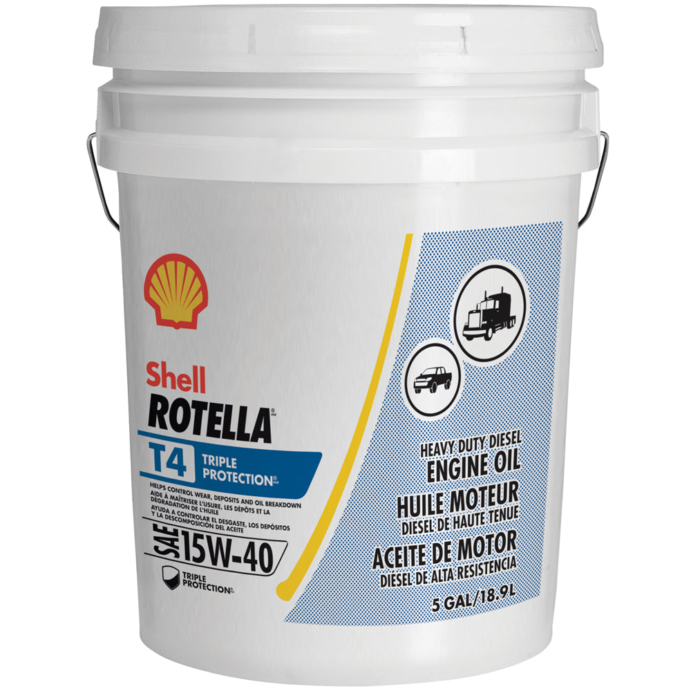 Shell Rotella T4 Triple Protection SAE 15W-40 5-Gallon
