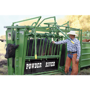 Powder River XL Squeeze Chute With rh Exit