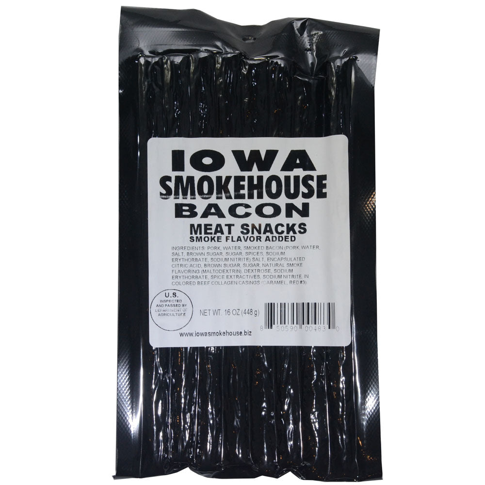 Iowa Smokehouse Bacon Meat Sticks 16-Oz