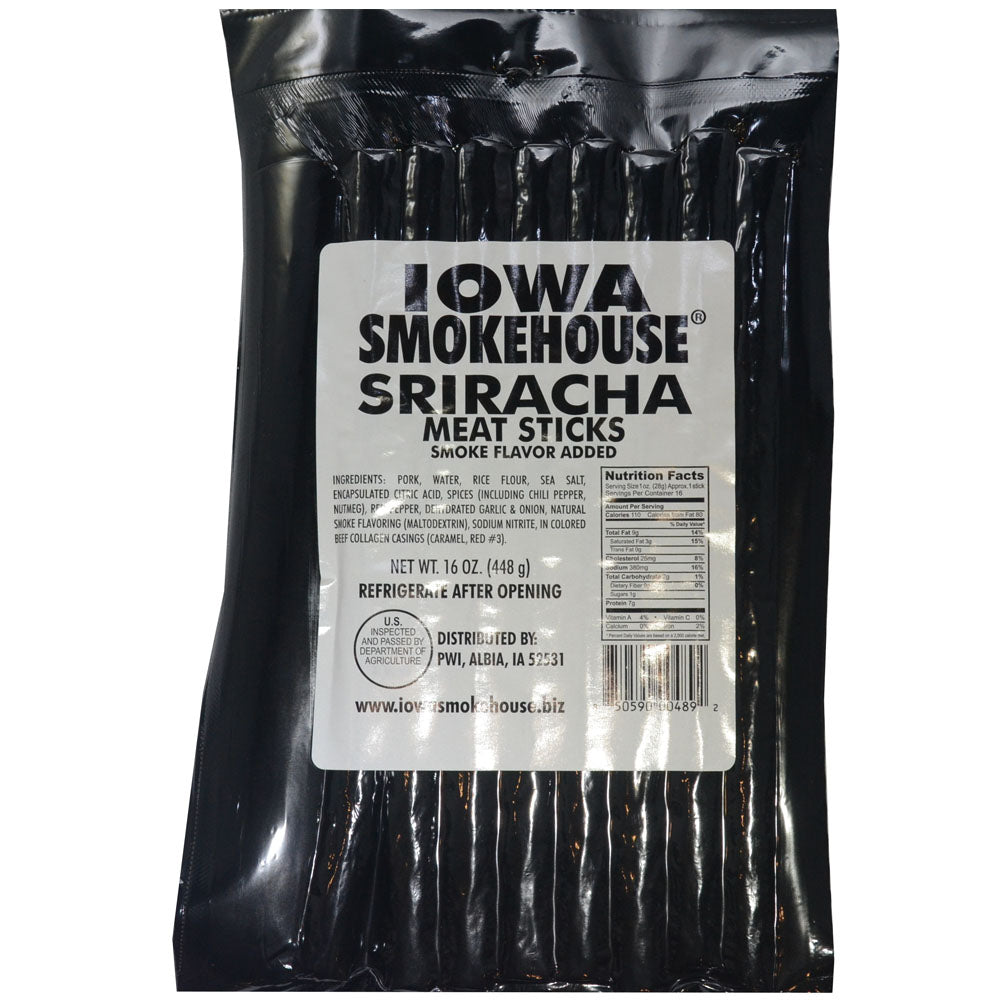 Iowa Smokehouse Sriracha Meat Sticks 16-Oz