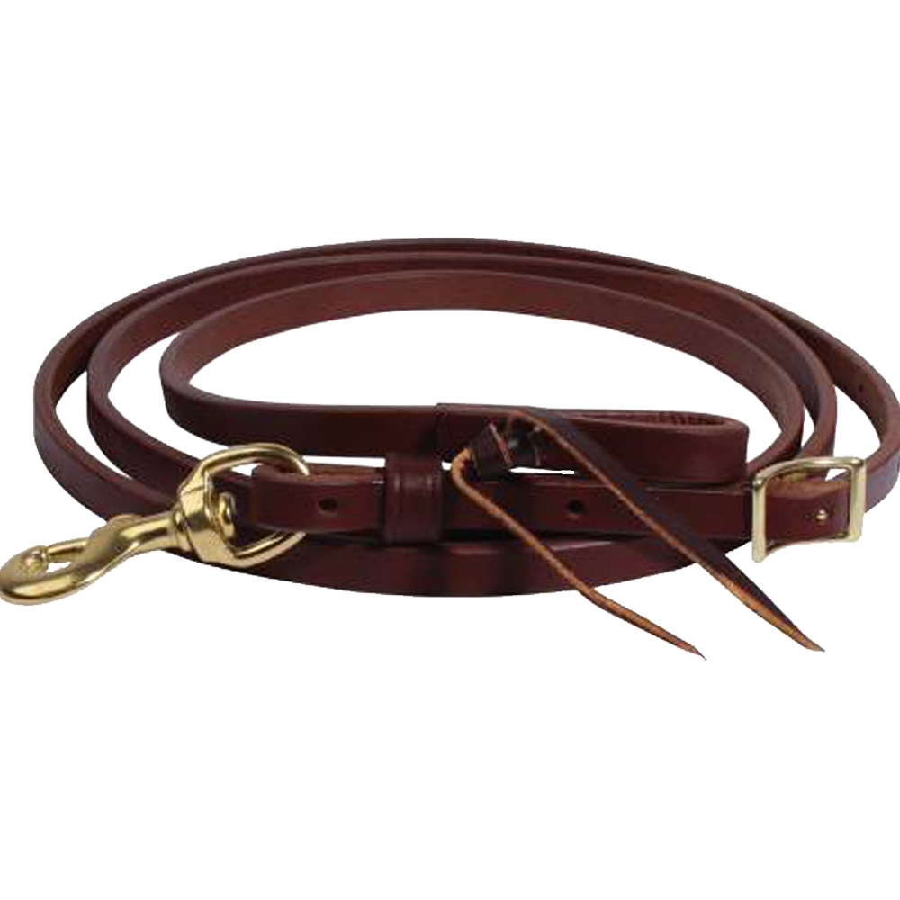 Ranch Heavy Oil Harness Leather Roping Reins 5/8""