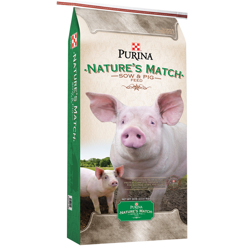 Purina Natures Match Sow And Pig Complete 50-Lbs