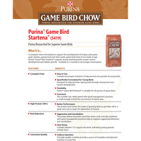 Purina Game Bird Chow Growth And Plumage Crumble 50-Lbs