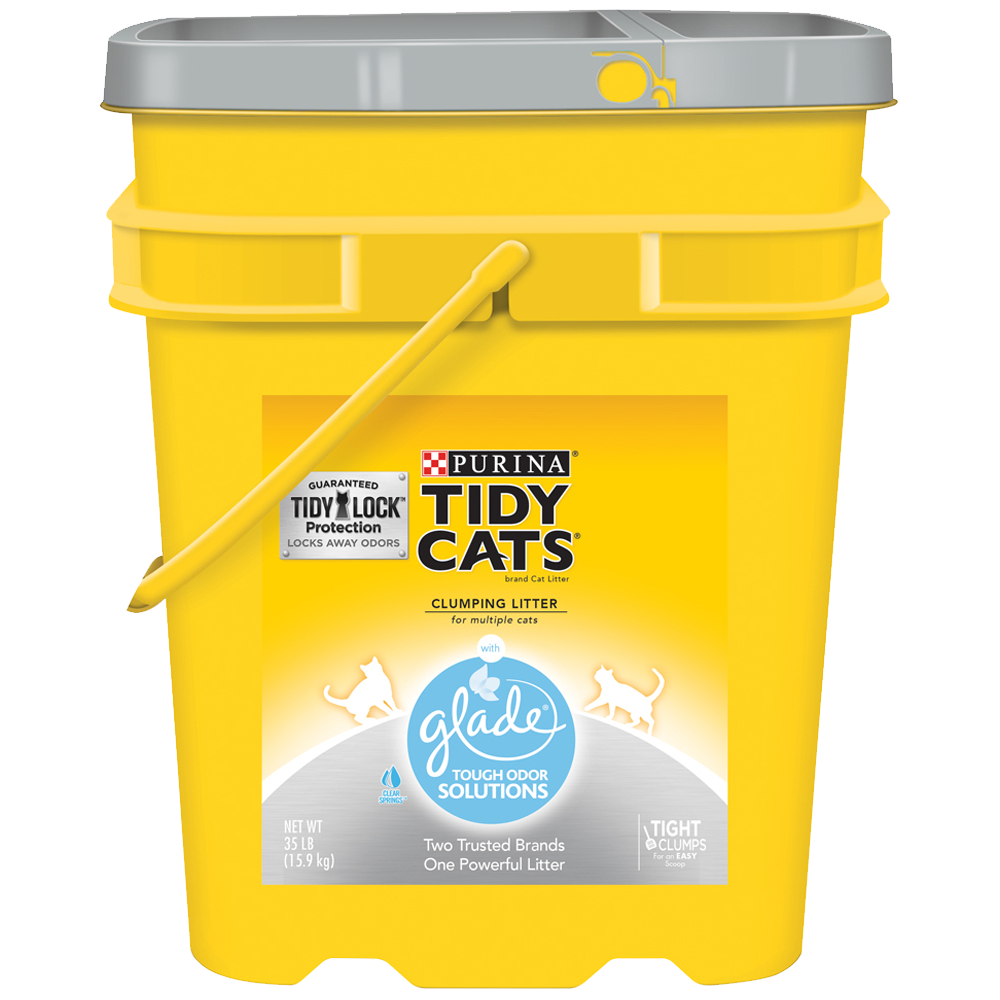 Tidy Cats Glade® Tough Odor Solutions Clumping Cat Litter 35lb Pail