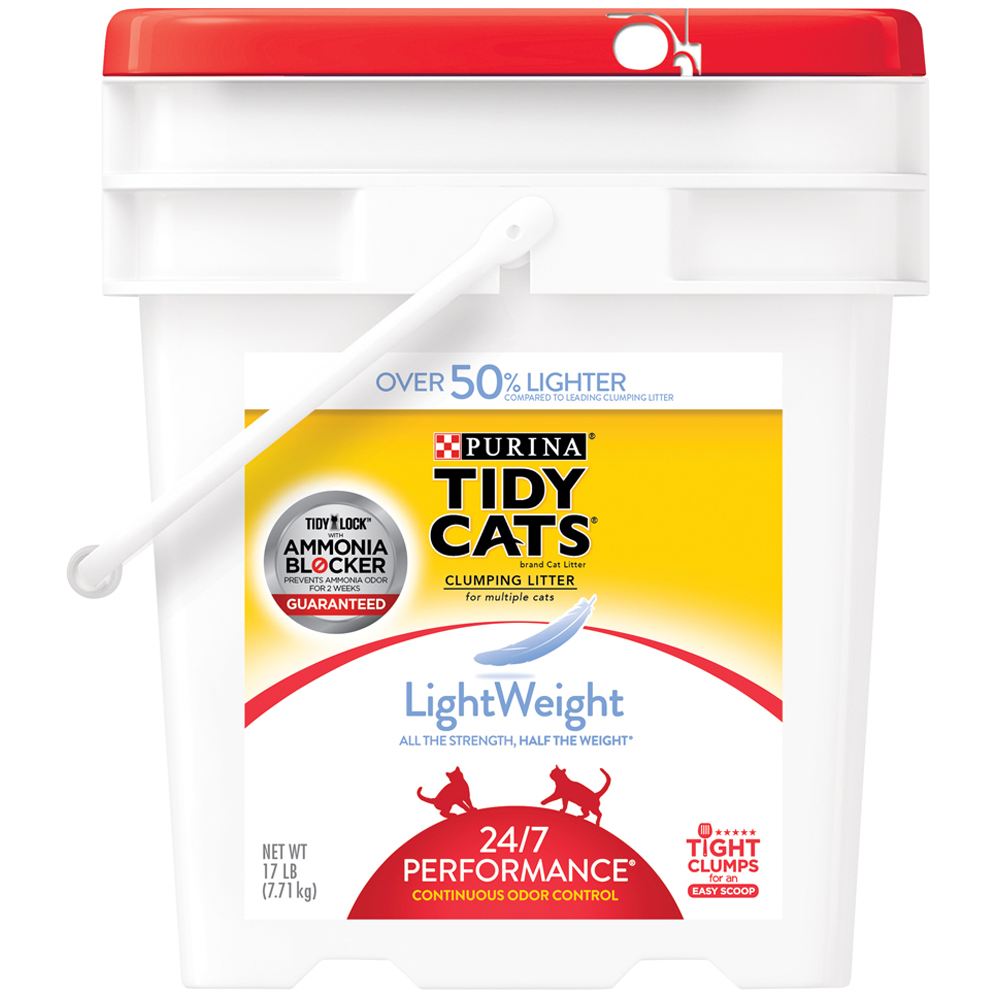 Tidy Cats Lightweight 24/7 Performance Cat Litter 17lb Pail