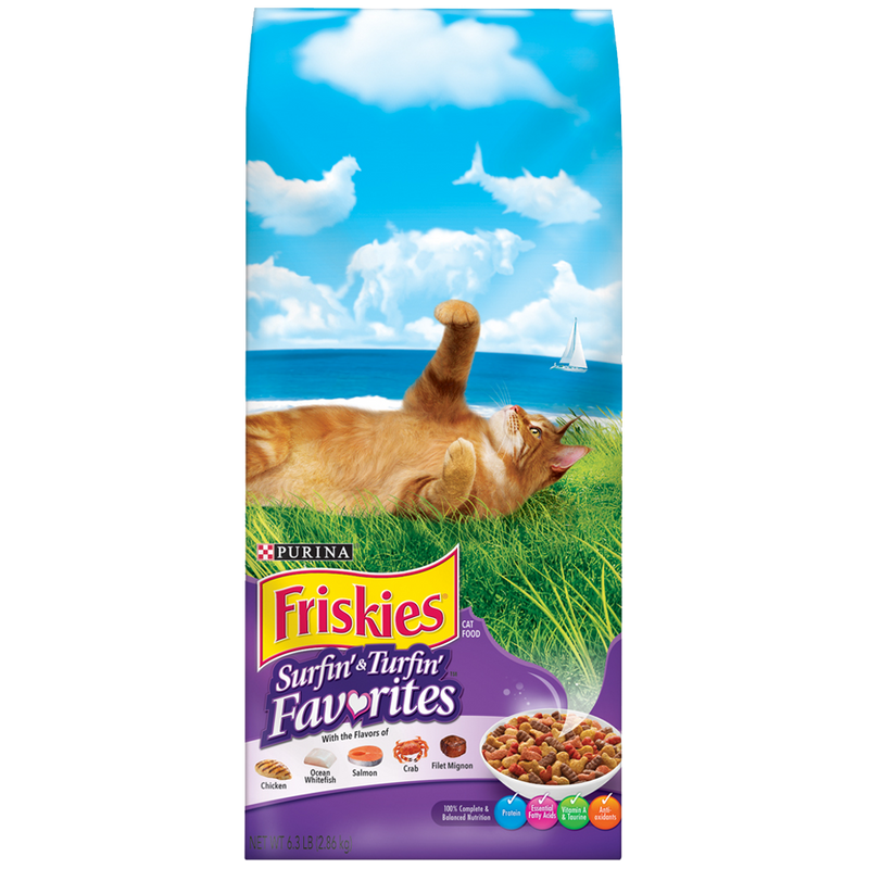 Friskies 6.3lb Surf and Turf Dry Cat Food