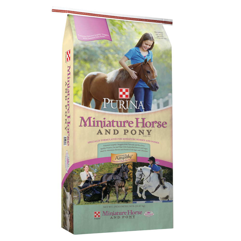 Purina Miniature Horse and Pony 13.5% Pelleted Horse Feed 50 lb