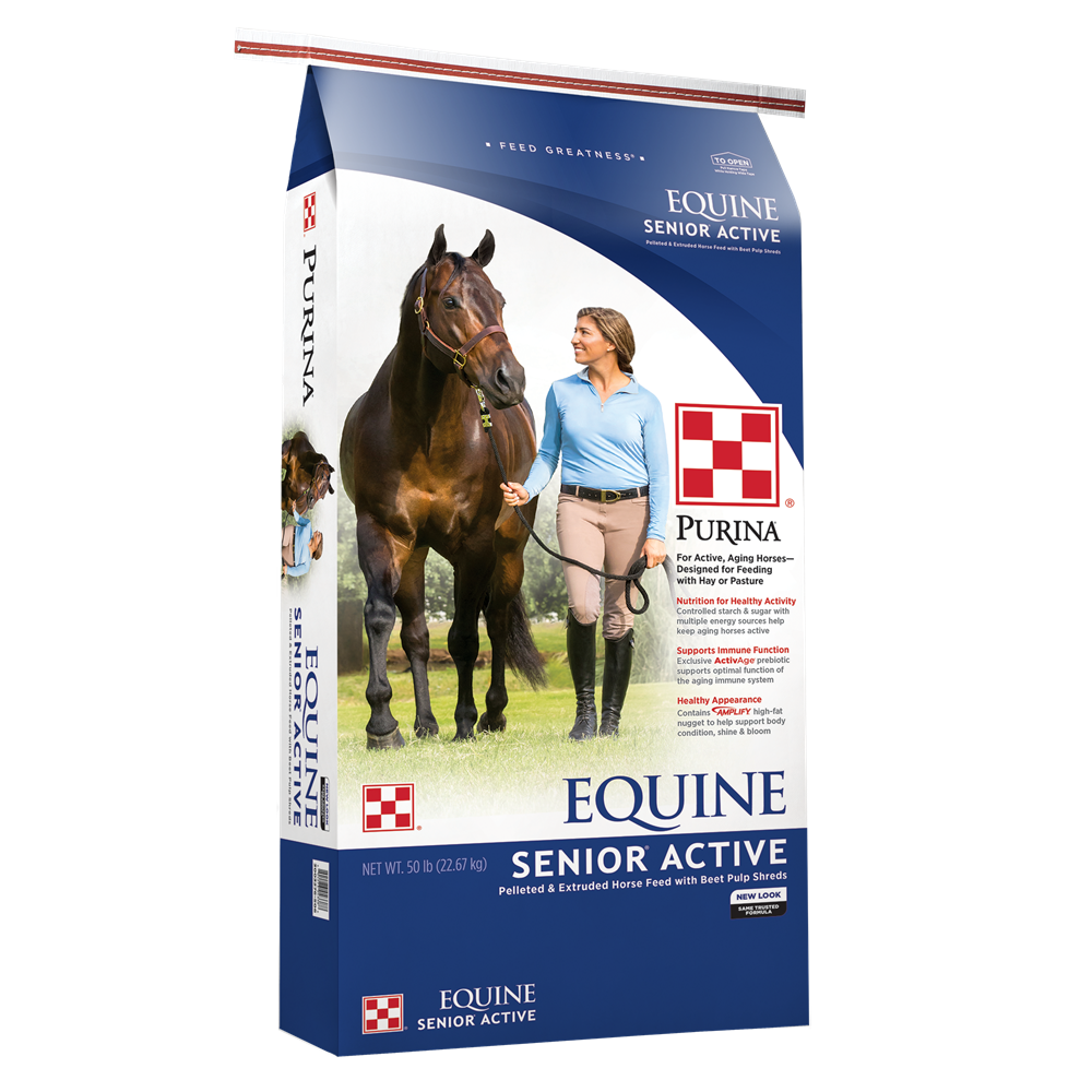 Purina Equine Senior Active 14% Horse Feed 50 lb