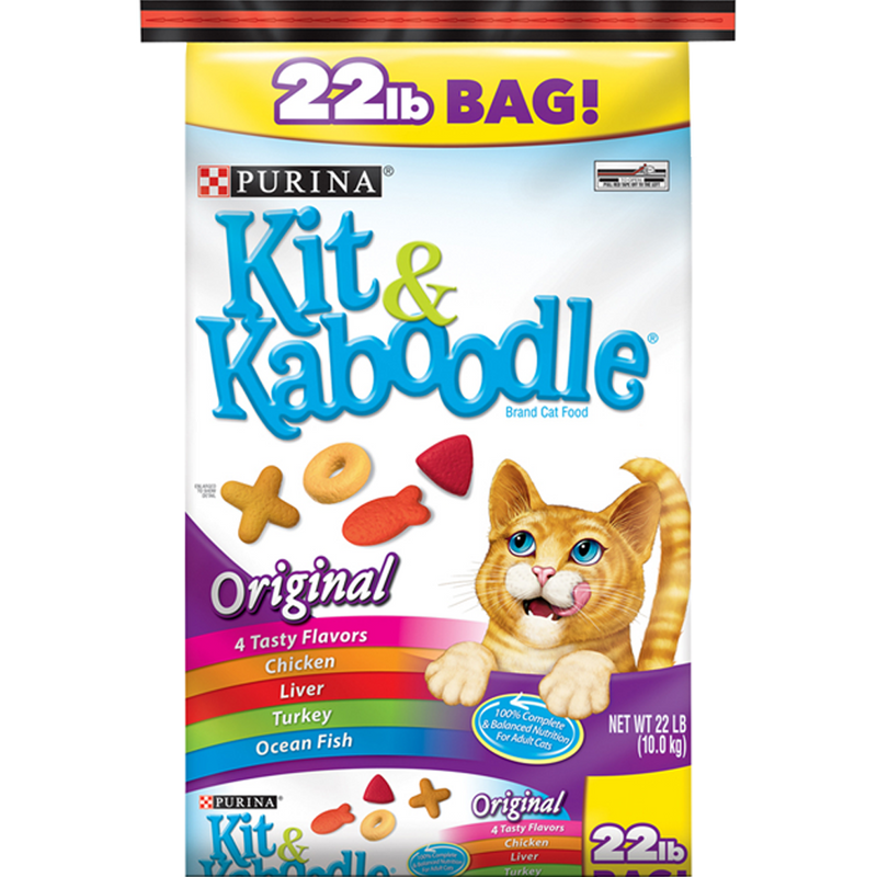 Purina Kit & Kaboodle Dry Cat Food 22 lb