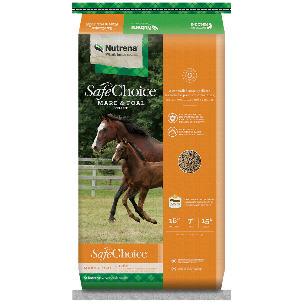 SafeChoice Mare And Foal Pellet Horse Feed 50-Lbs