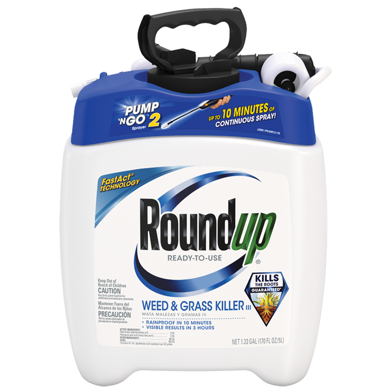 Roundup Ready-To-Use Weed & Grass Killer III with Pump N Go 2 Sprayer 1.33gal