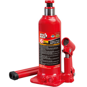 Big Red 6-Ton Hydraulic Welded Bottle Jack Red