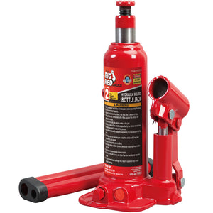 Big Red 2-Ton Hydraulic Welded Bottle Jack Red
