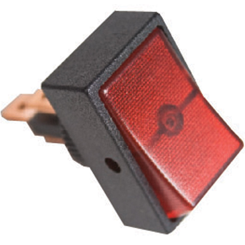 Red Rocker Switch Square Mount
