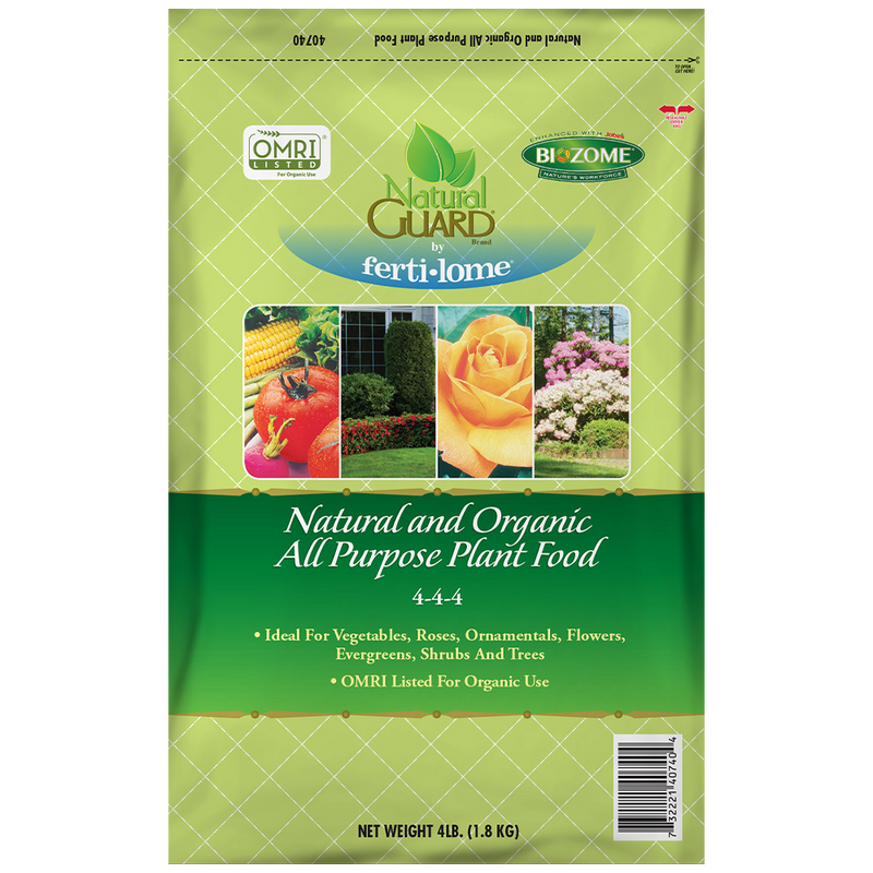 Natural and Organic All Purpose Plant Food 4-4-4 (4-lbs)