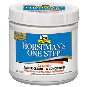 Absorbine Horsemans One Step Cream Leather Cleaner And Conditioner 15-Oz