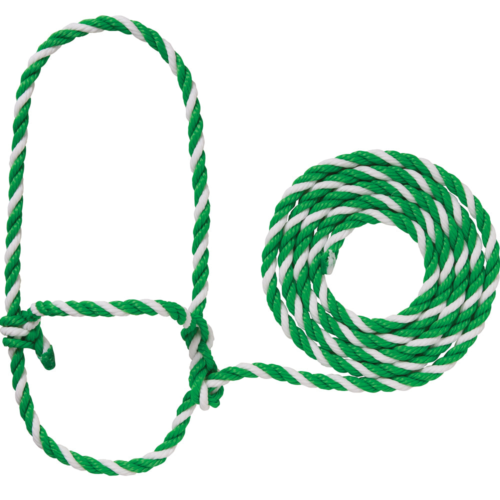 Weaver Leather Cow Rope Halter Clover Green And White