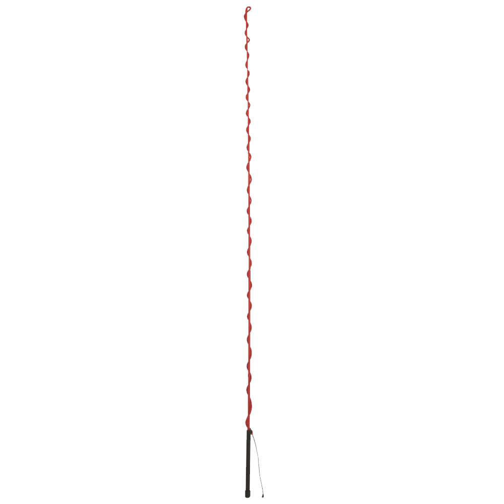 Weaver Leaver Lunge Whip with Rubber Handle 73 in Red