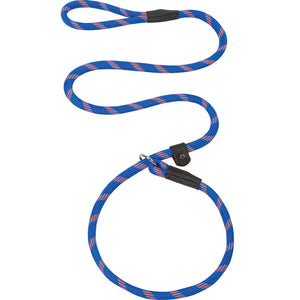 Weaver Leather Rope Slip Lead 1/2-Inch x 4-Foot Blue And Orange