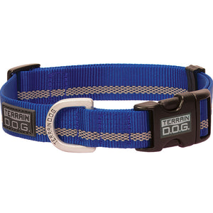 Weaver Leather Terrain D.O.G. Large Snap-N-Go Adjustable Dog Collar Dark Blue