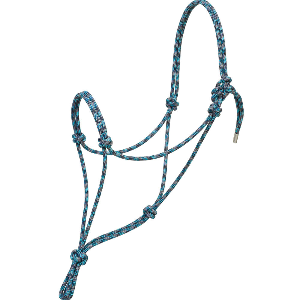 Weaver Leather Silvertip No. 95 Average Rope Halter Blue, Navy, And Turquoise