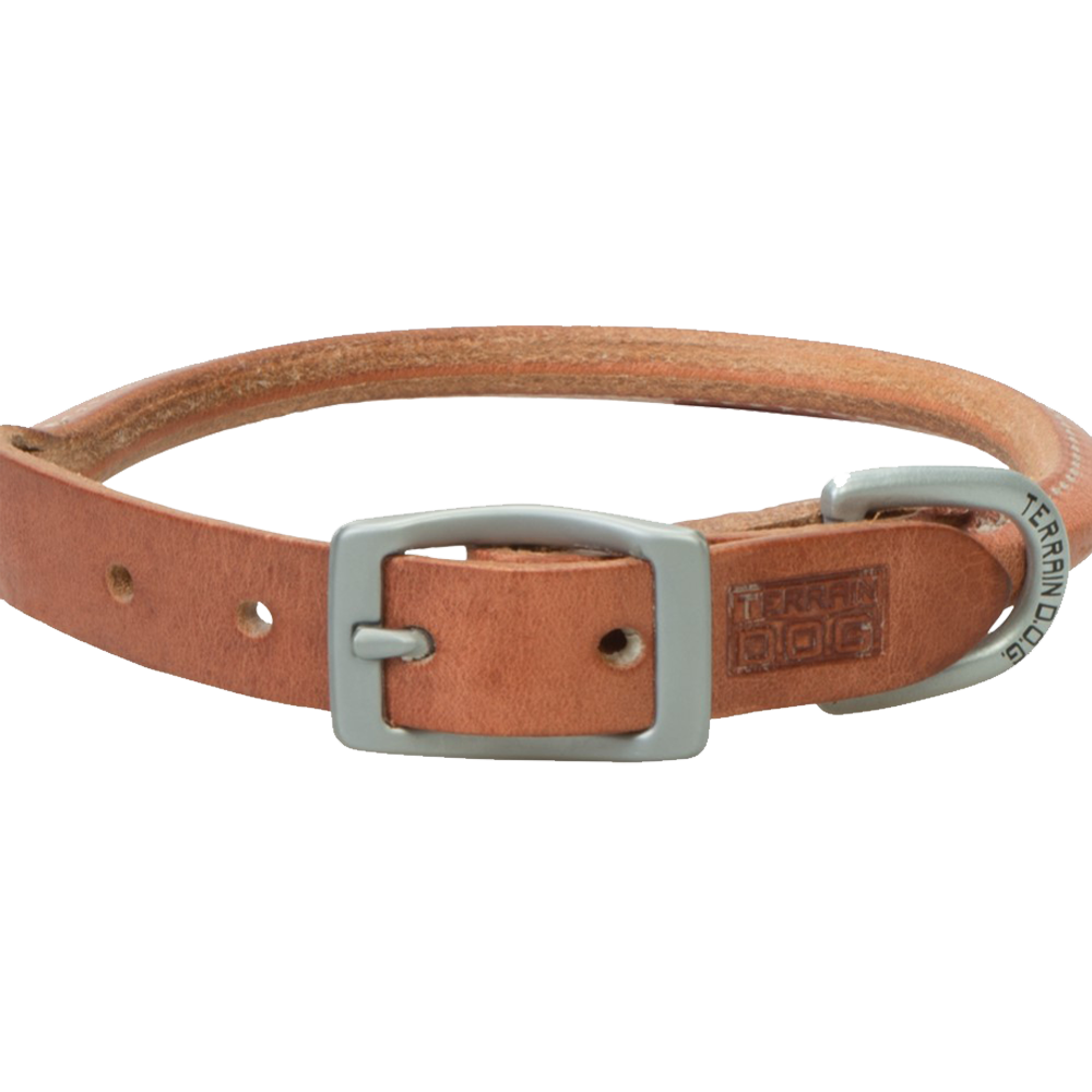 Weaver Leather Terrain Dog Rolled Dog Collar 15-Inch