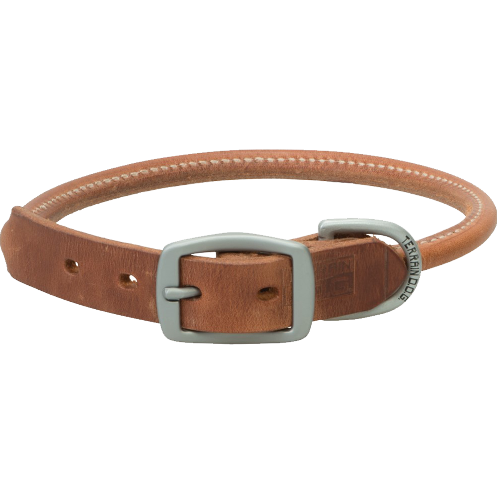 Weaver Leather Terrain Dog Rolled Dog Collar 19-Inch