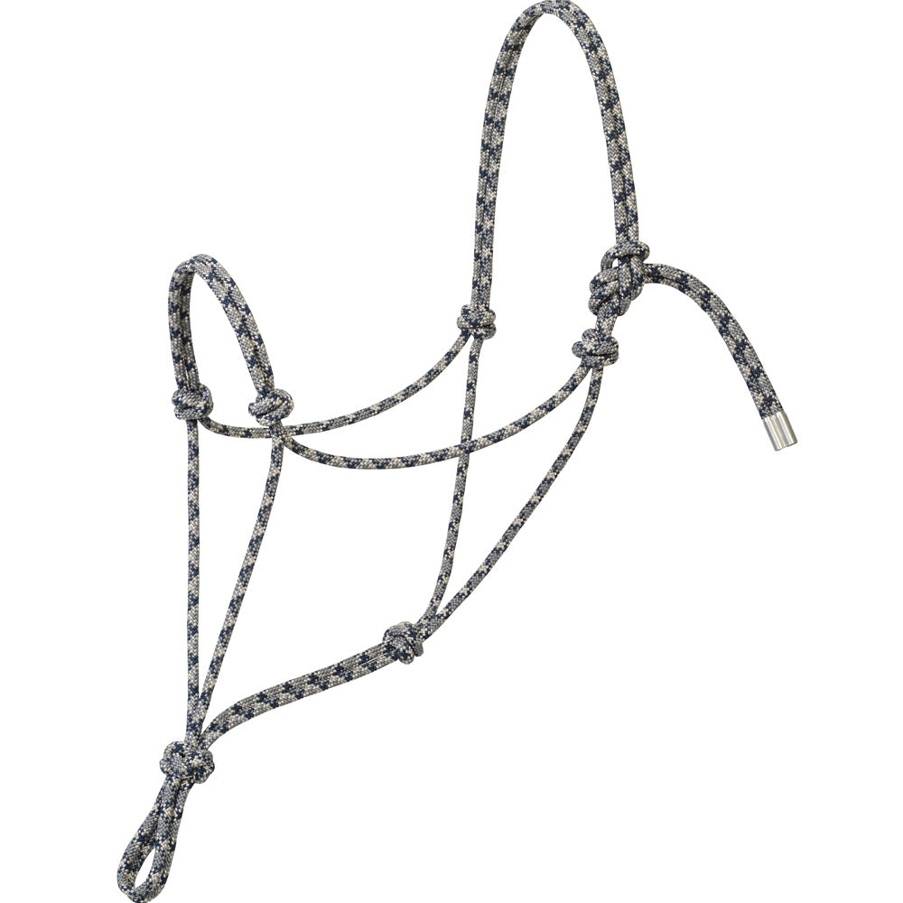 Weaver Leather Silvertip No. 95 Rope Halter Gray, Silver, And Navy
