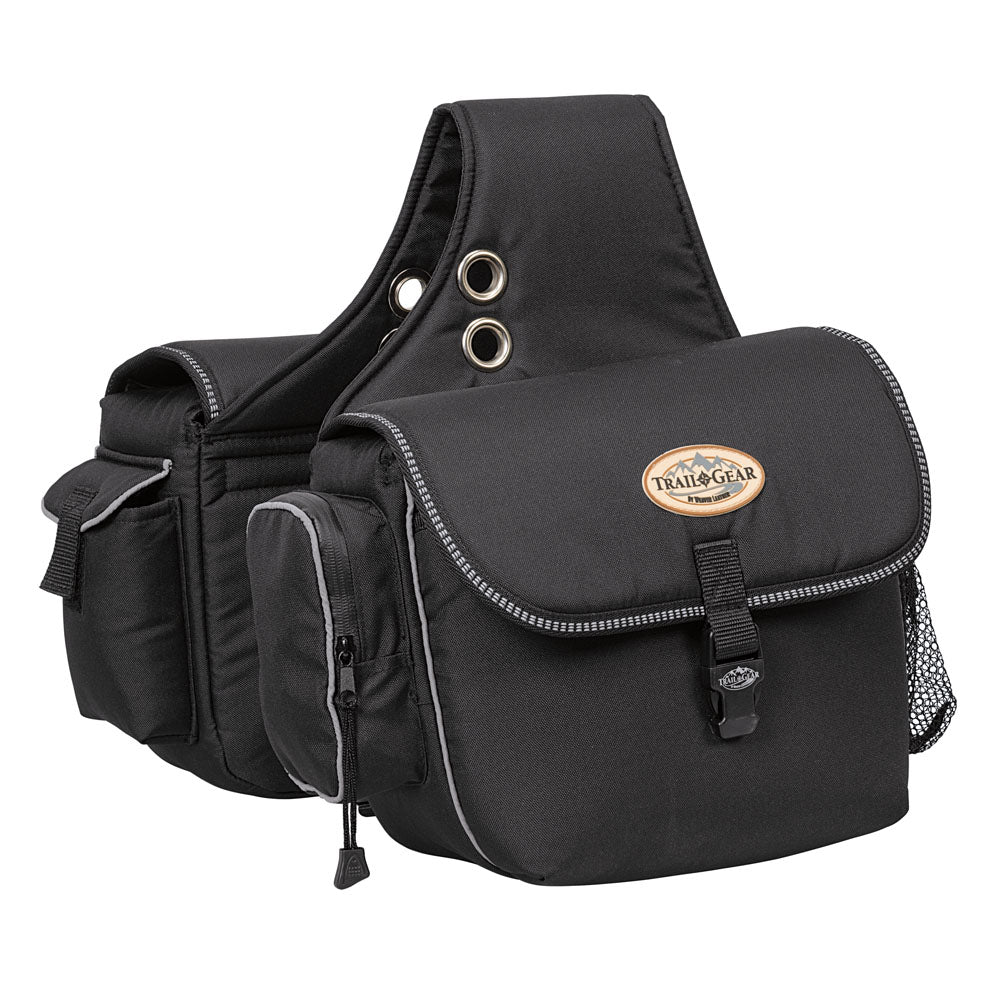 Weaver Leather Trail Gear Saddle Bags Black