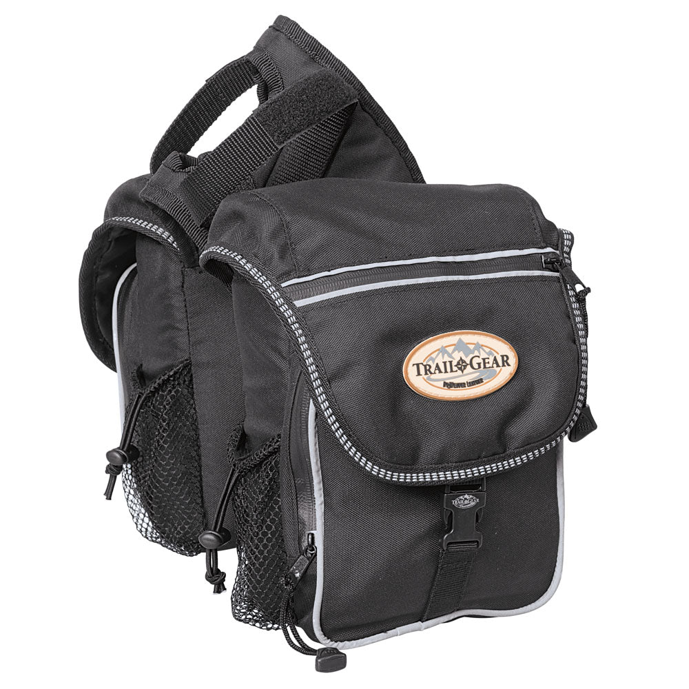 Weaver Leather Trail Gear Pommel Bag Black