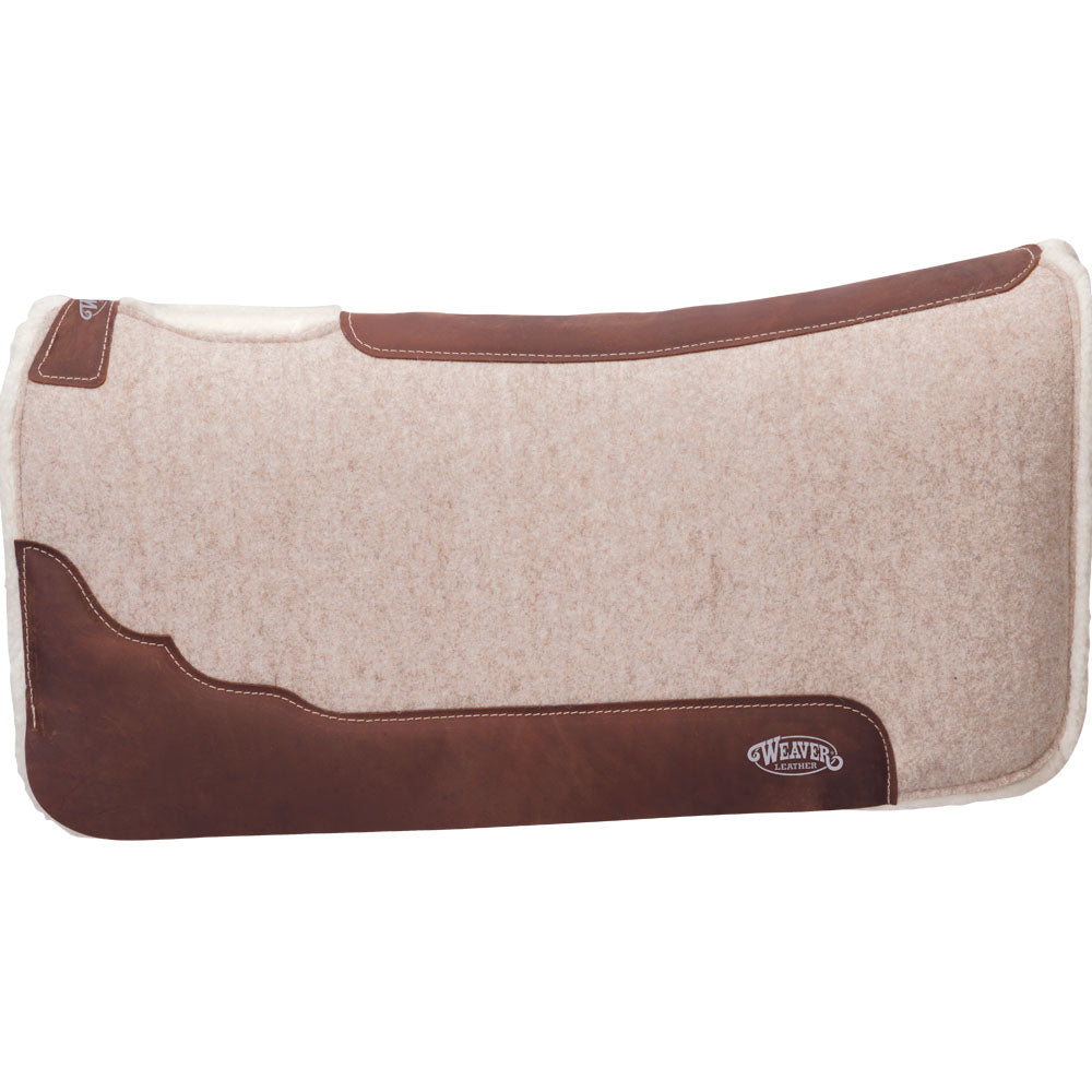 Weaver Leather Contoured Wool Blend Felt Saddle Pad 32-Inch x 32-Inch