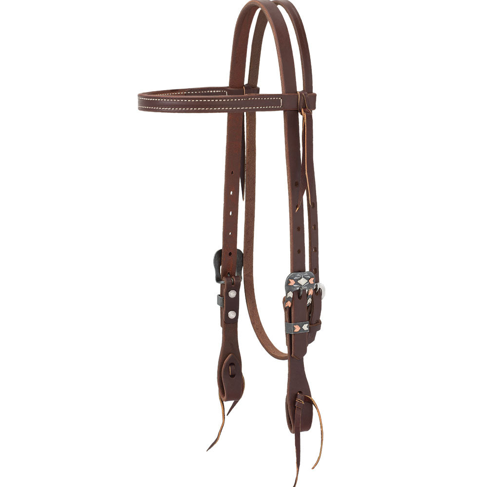 Weaver Leather Working Tack Chevron Straight Browband Headstall