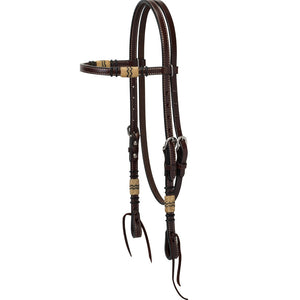 Weaver Leather Turquoise Cross Rawhide Accented Browband Headstall