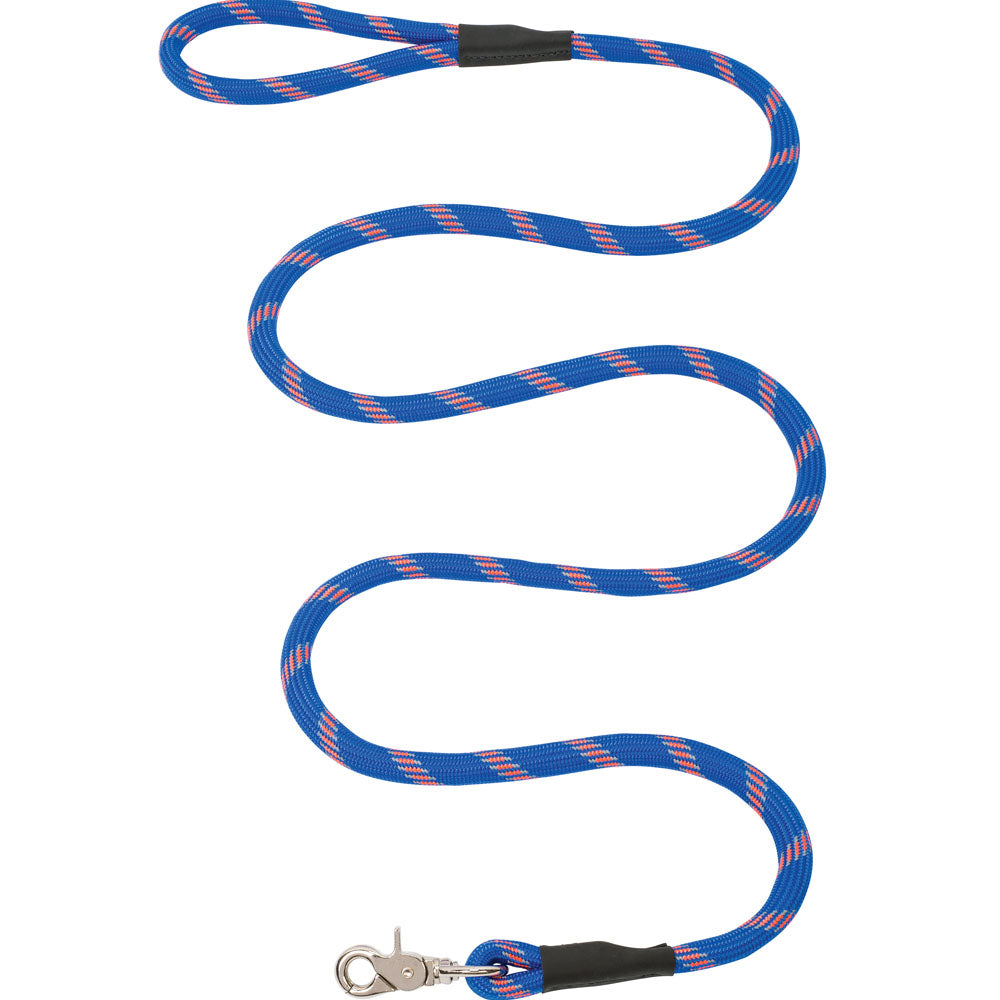 Weaver Leather 1/2-Inch x 4-Foot Rope Dog Leash Blue And Orange