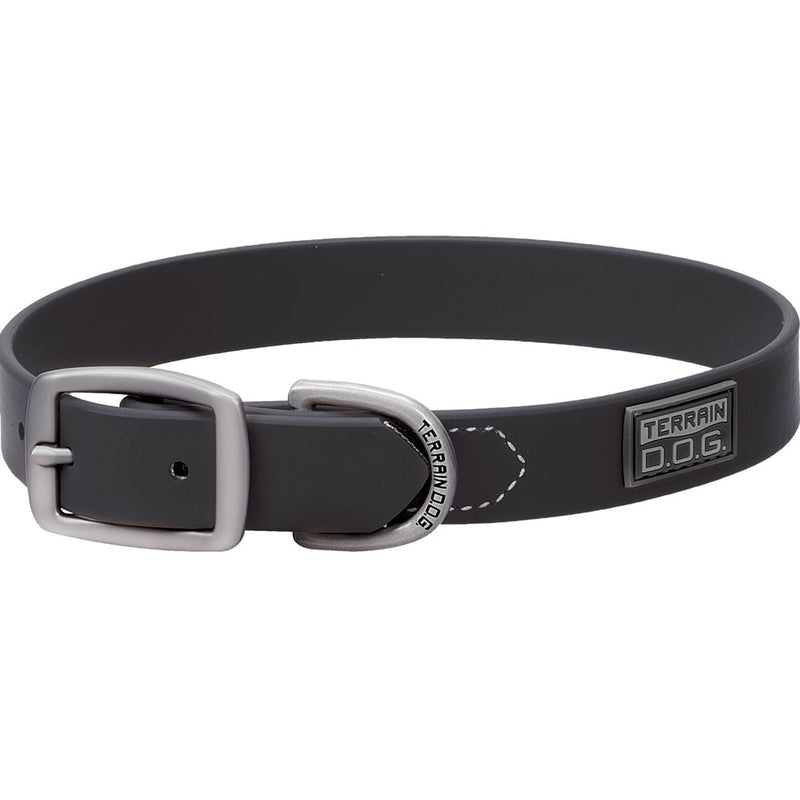 Weaver Leather 3/4-Inch x 15-Inch Terrain D.O.G. Brahma Webb Dog Collar Black